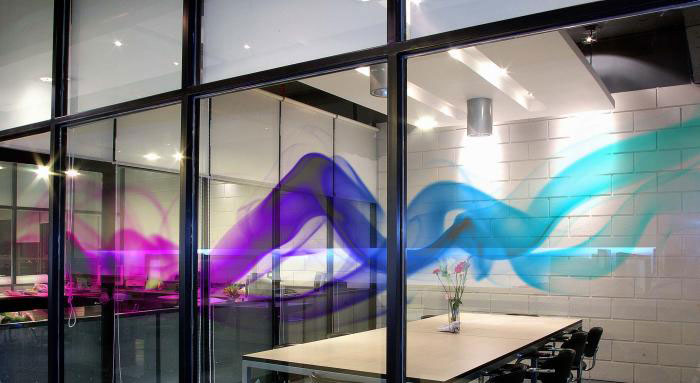 Digital Print Window Graphics For Commercial Privacy