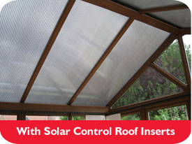 With Solar Control Roof Inserts